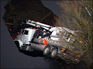 Portland Sinkhole truck