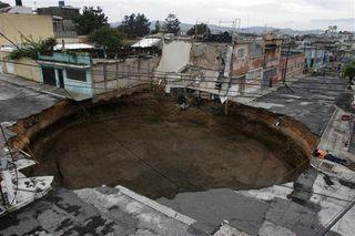 Guatemala Sinkhole Street View