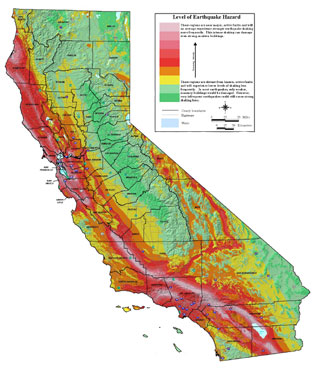 california earthquake hazard