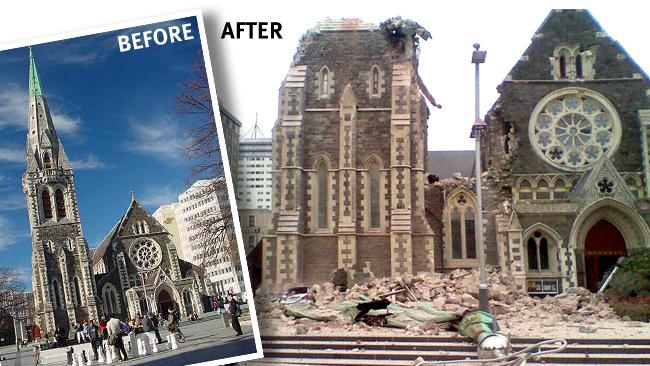 Before and After New Zealand Earthquake