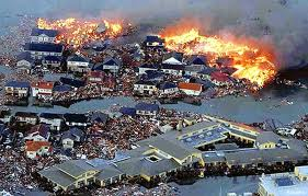 Japanese Home on Fire