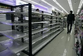Food and water shortage Japan