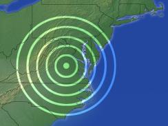 Virginia earthquake map