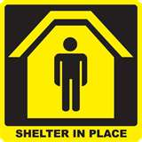 Shelter-in-place sign