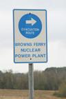 Nuclear power plant evacuation sign browns ferry alabama