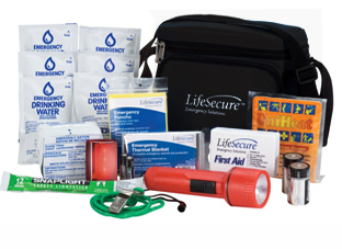 Emergency car kit black