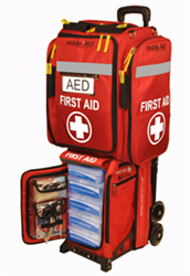 Emergency Response Station with AED backpack