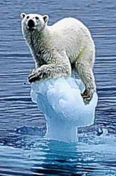 Ice cap melts sea level rises