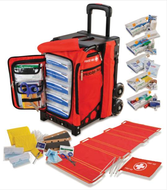 MobileAid Trauma First Aid Station with Components