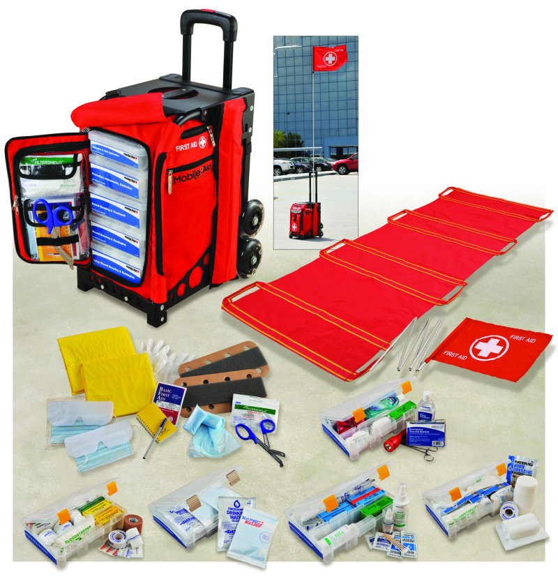 MobileAid Easy Roll Trauma First Aid Kit